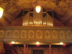 Grindheim, orgelfasade
