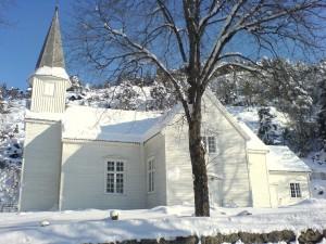 Vinterkledd Konsmo kirke, 2006